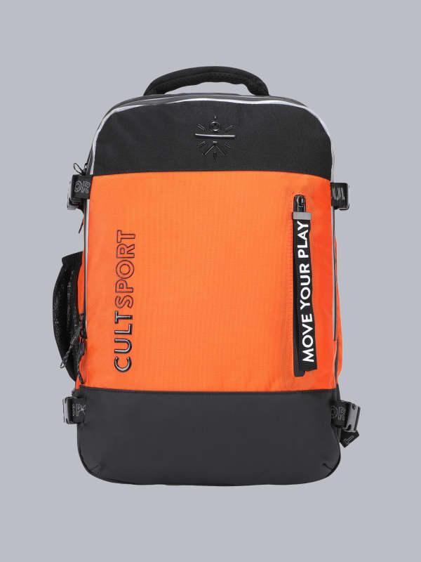 Signature Square Orange Backpack