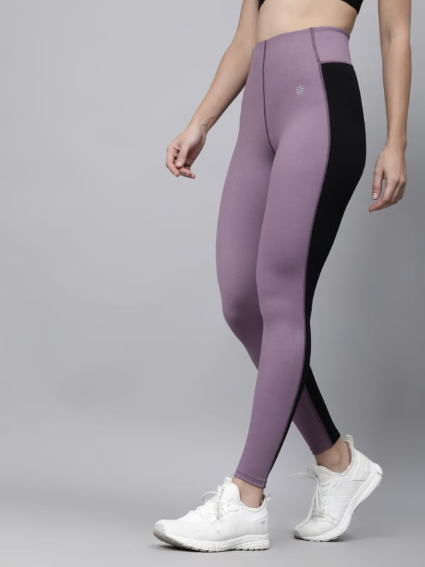 AbsoluteFit Enhance Black+Purple Workout Leggings