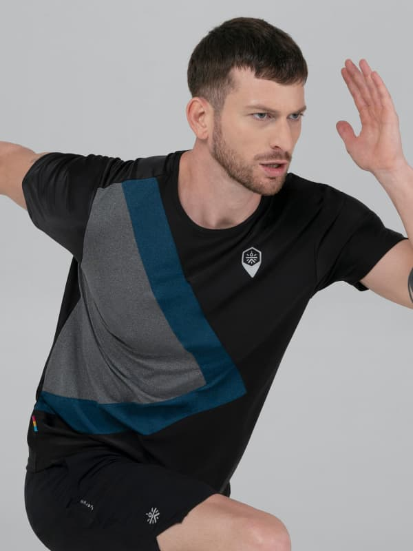 FAB Men's Color Blocked Workout T-shirt