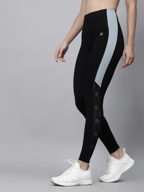 AbsoluteFit Uplift Black+Mint Workout Leggings
