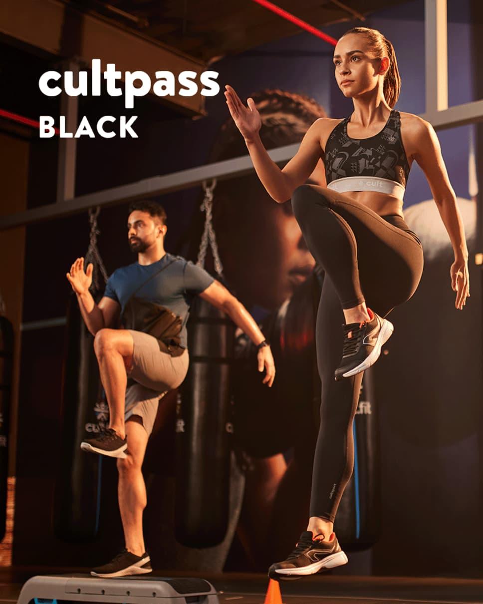 cult.fit Gym WorkOut 6+6 Months cultpass BLACK Pack