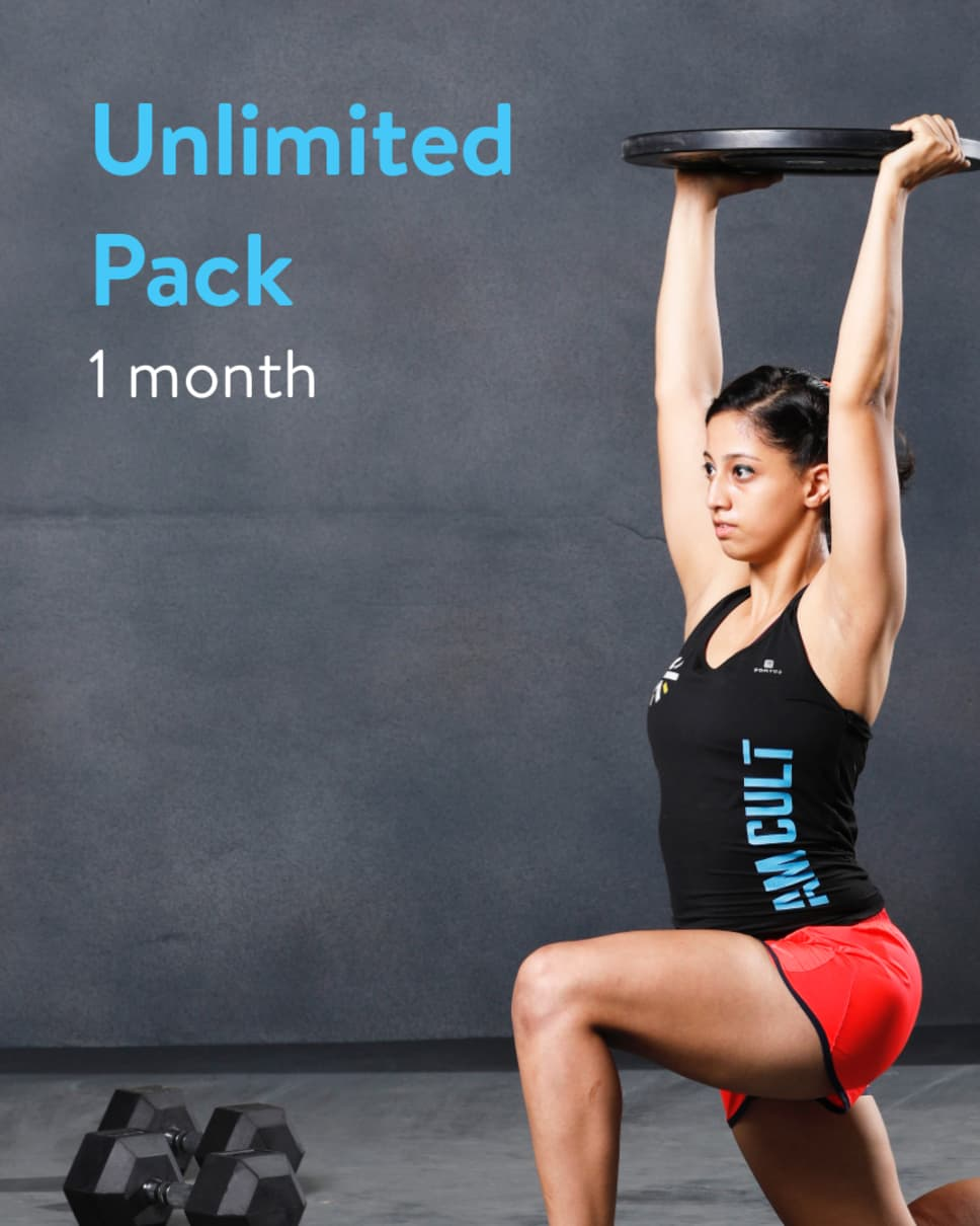 cult.fit Gym WorkOut 1 Month Unlimited - Cred Pack