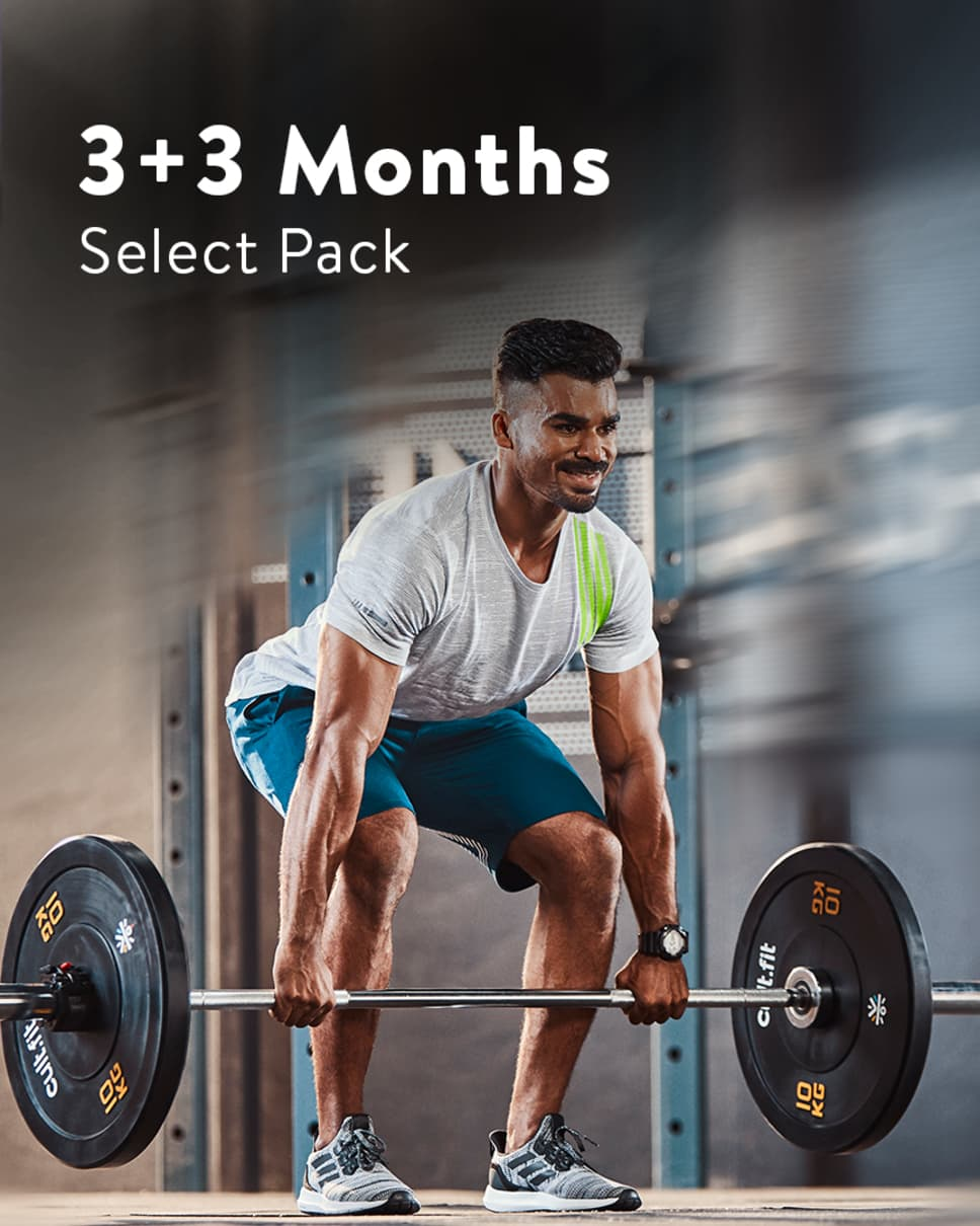 cult.fit Gym WorkOut 3+3 Month Select Pack Pack
