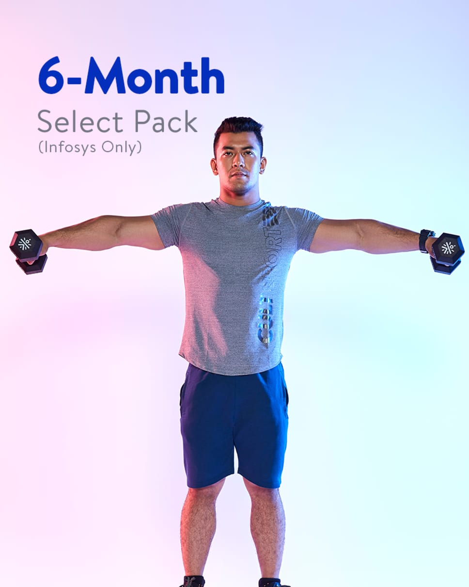 cult.fit Gym WorkOut 6 Month Select Pack - Infosys Only Pack