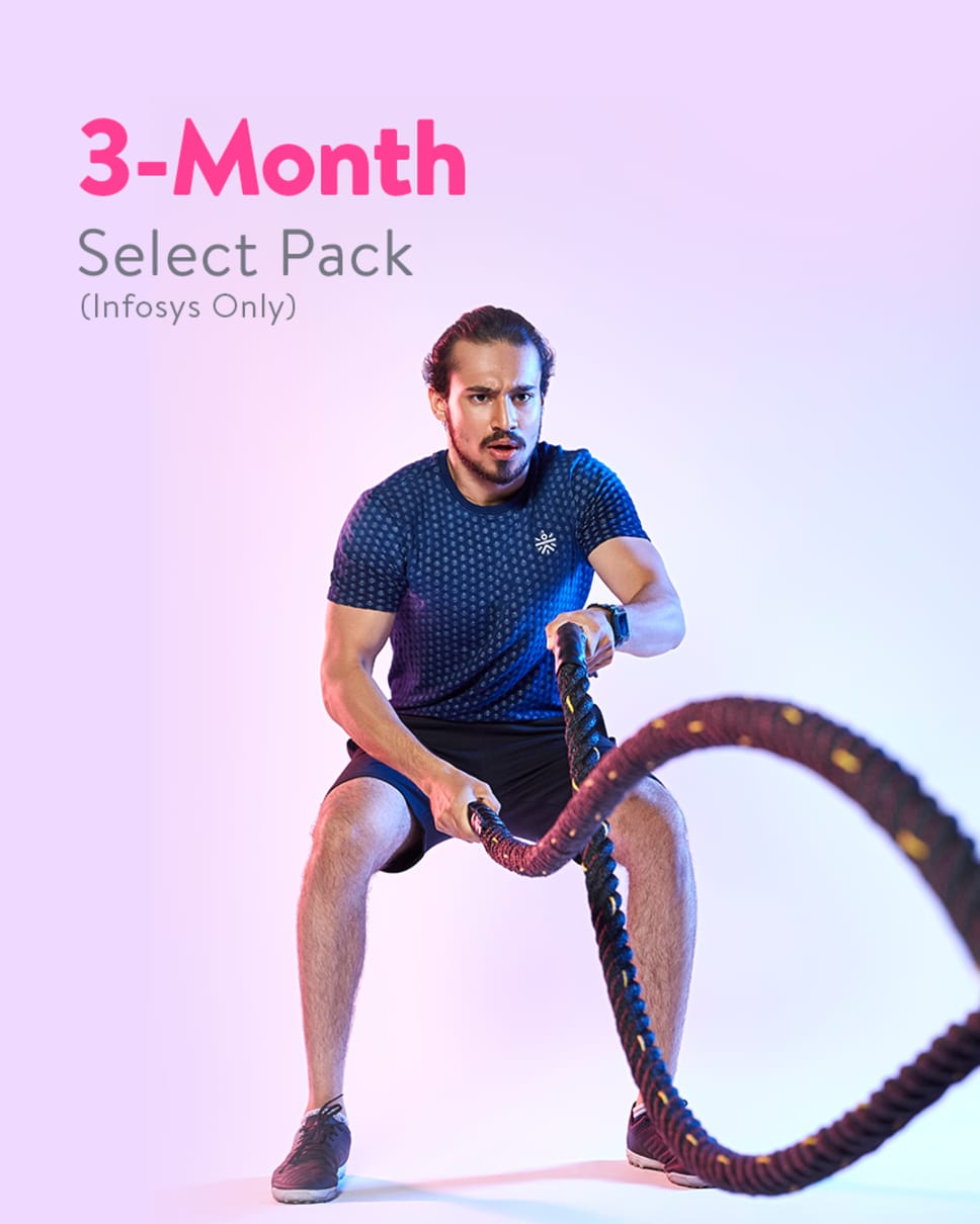 cult.fit Gym WorkOut 3 Month Select Pack - Infosys Only Pack