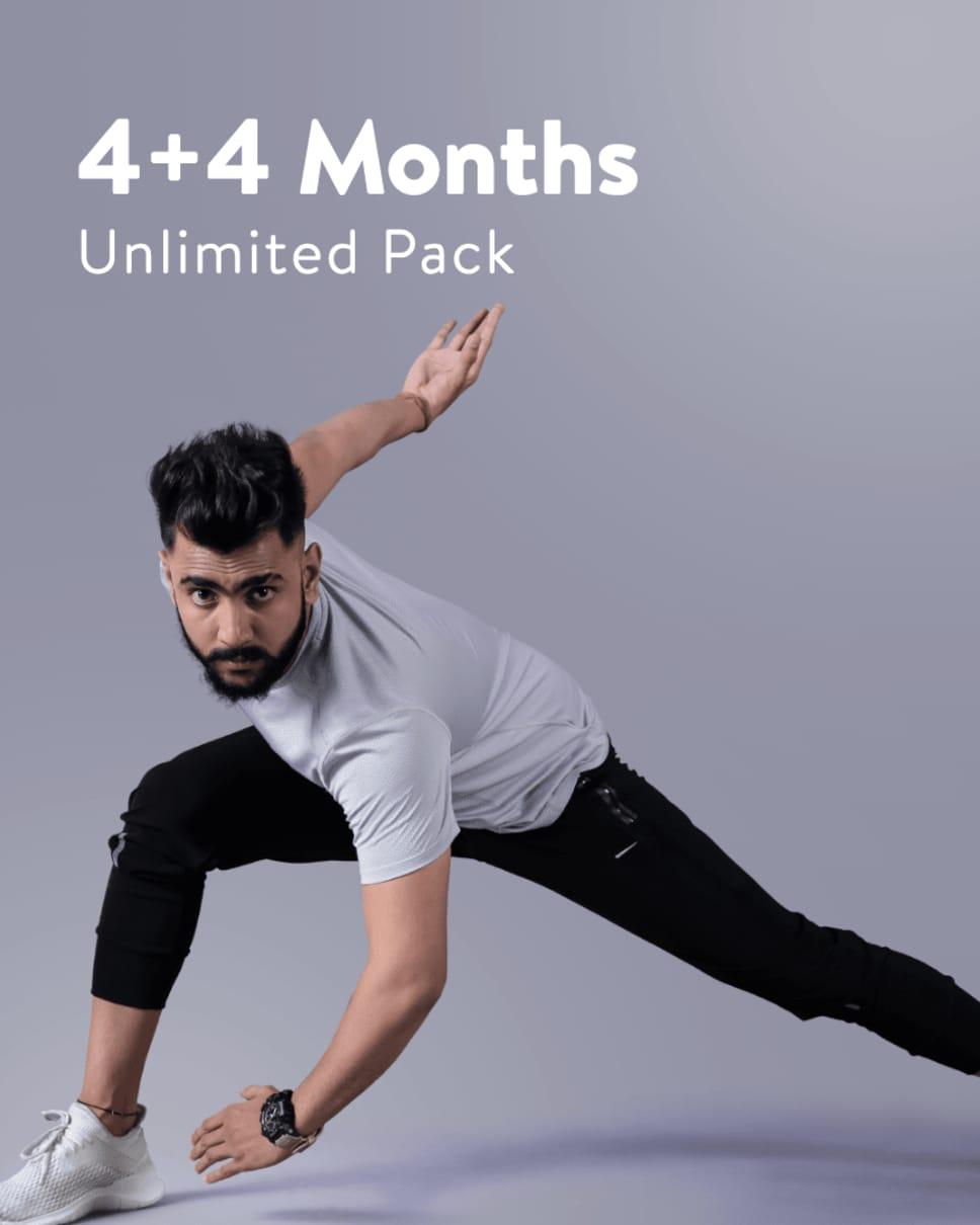 cult.fit Gym WorkOut 4+4 Months cultpass BLACK Pack