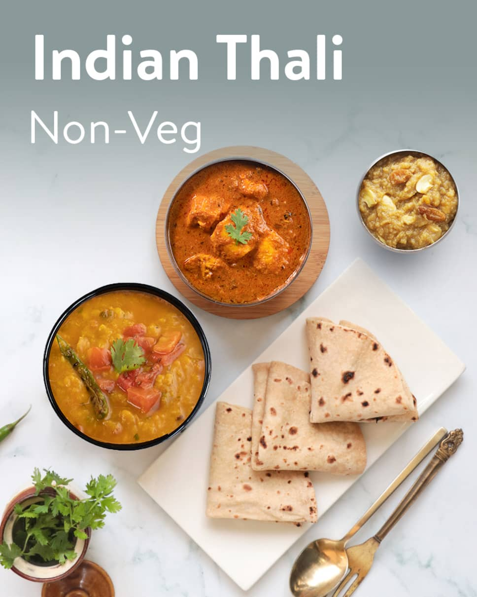 Indian Thali Non-Veg Homely Meals Subscription at Eat.fit