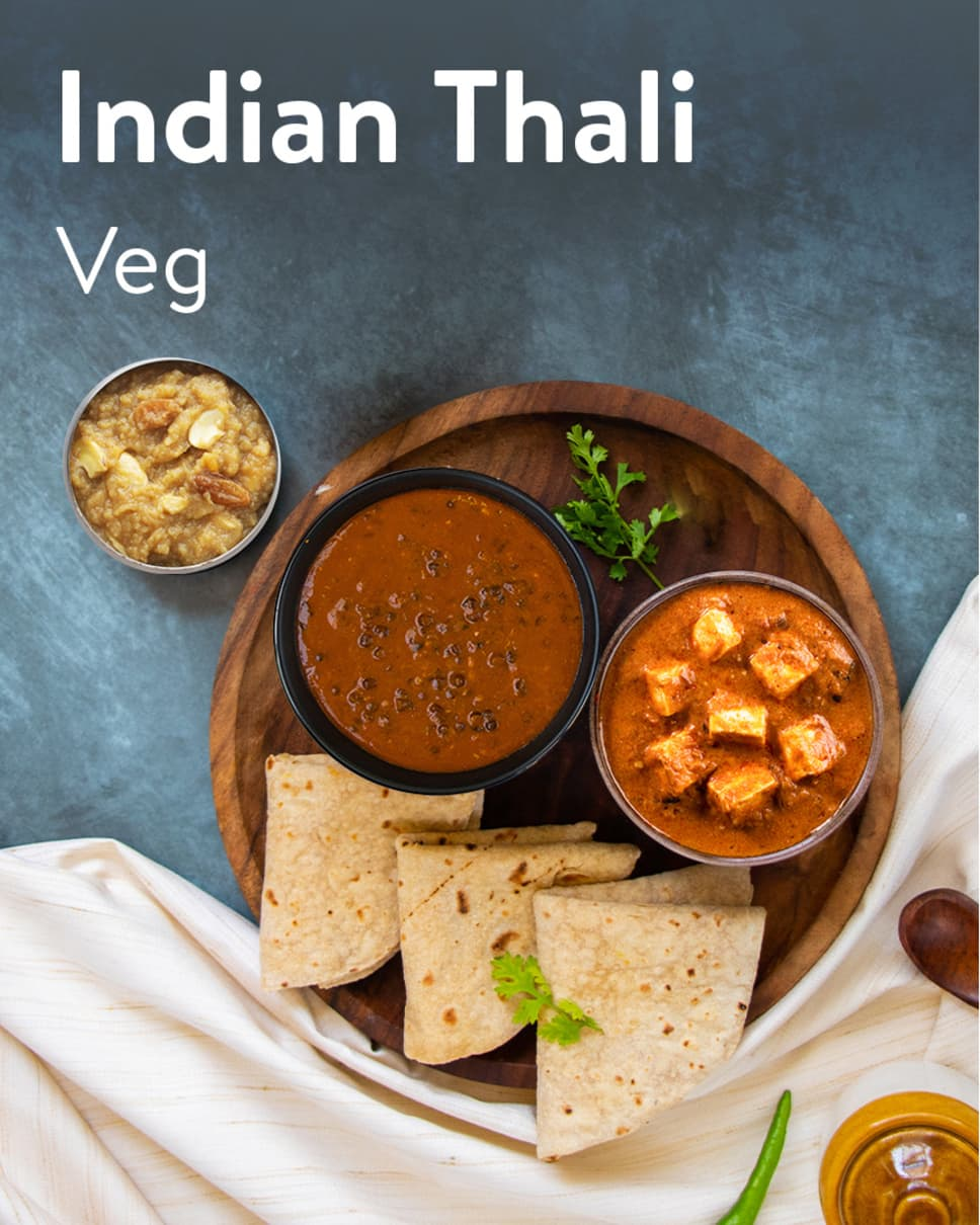 Indian Thali Veg Homely Meals Subscription at Eat.fit
