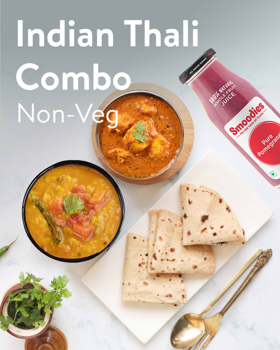Indian Thali Combo Non-Veg Homely Meals Subscription at Eat.fit