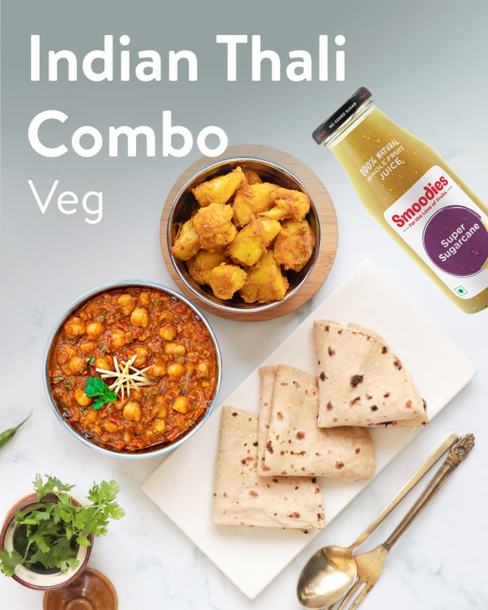 Indian Thali Combo Veg Homely Meals Subscription at Eat.fit